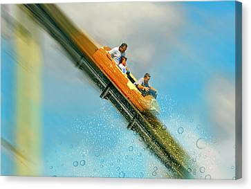 Canvas Print featuring the photograph The Flume by Diana Angstadt