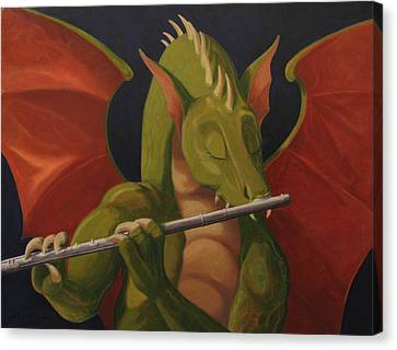 The Flute Player Canvas Print by Leonard Filgate