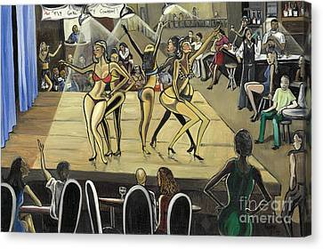 The Fly Girl Beauty Contest Canvas Print by Toni  Thorne