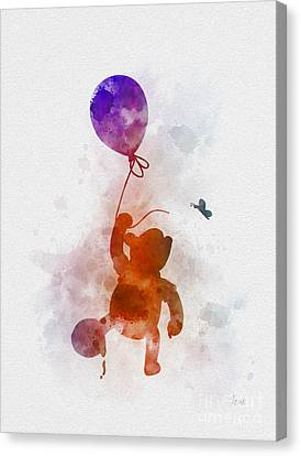Piglet Canvas Print - The Flying Bear by Rebecca Jenkins