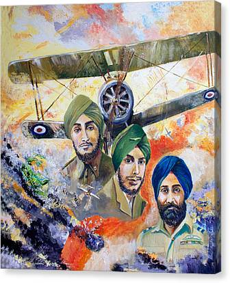 The Flying Sikhs Canvas Print