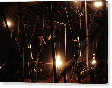The Flying Trapeze 1980s Circus Canvas Print
