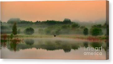 The Fog Of Summer Canvas Print