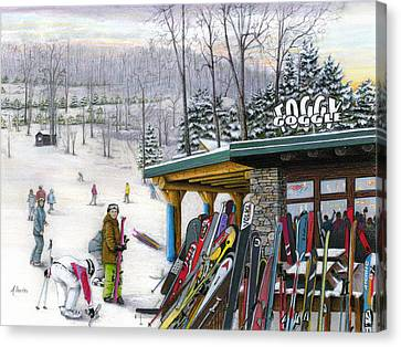 Decorate Canvas Print - The Foggy Goggle At Seven Springs by Albert Puskaric