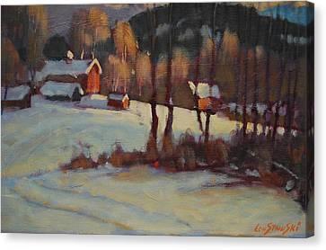 The Foisey Farm Canvas Print by Len Stomski