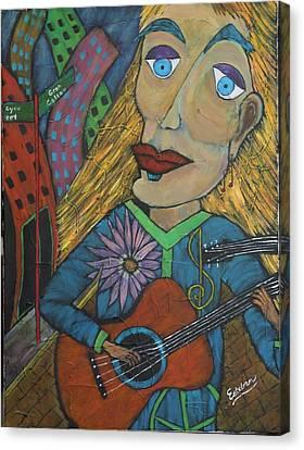 The Folk Singer Canvas Print by Stephen Harrelson