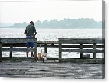 Salt Air Canvas Print - The Folks - Fishing 1 by Frank Romeo