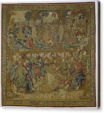 Textile Tapestry The Foot Washing   Pieter Van Enghien  Ca 1511  Ca 1520 Canvas Print