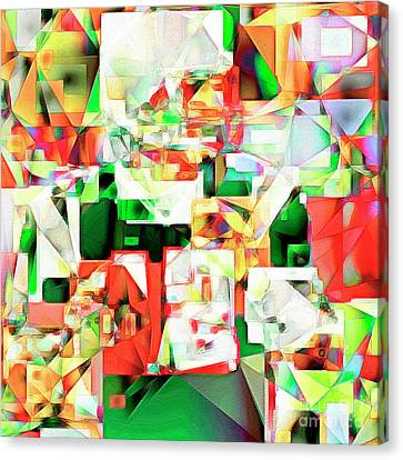 Canvas Print featuring the photograph The Football Quarterback In Abstract Cubism 20170328 Square by Wingsdomain Art and Photography