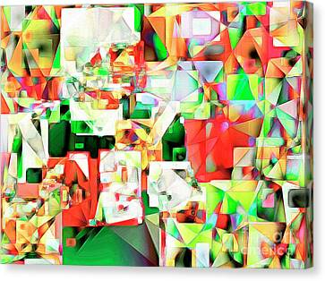 Canvas Print featuring the photograph The Football Quarterback In Abstract Cubism 20170328 by Wingsdomain Art and Photography