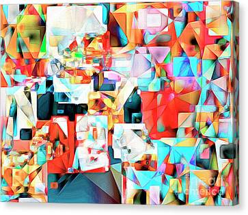 Canvas Print featuring the photograph The Football Quarterback In Abstract Cubism 20170328c2 by Wingsdomain Art and Photography