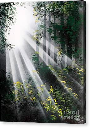 Canvas Print featuring the painting The Forest 01 by Greg Moores