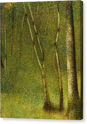 Seurat Canvas Print - The Forest At Pontaubert by Georges-Pierre Seurat