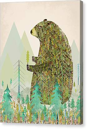 The Forest Keeper Canvas Print by Bri B