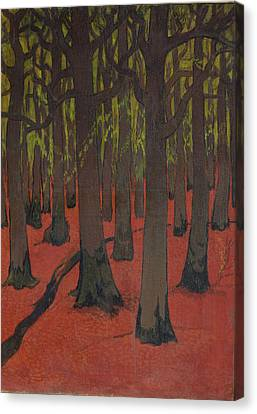 1916 Canvas Print - The Forest With Red Earth by Georges Lacombe