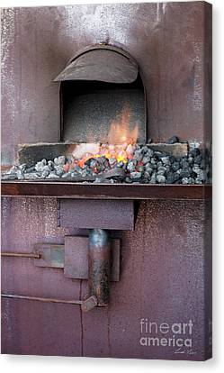 Canvas Print featuring the photograph The Forge by Linda Lees