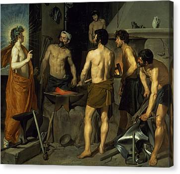 The Forge Of Vulcan Canvas Print by Diego Velazquez