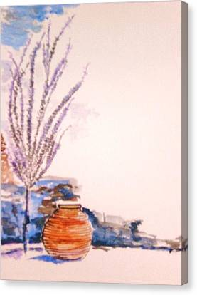 Canvas Print featuring the painting The Forgotten Urn by Helena Bebirian