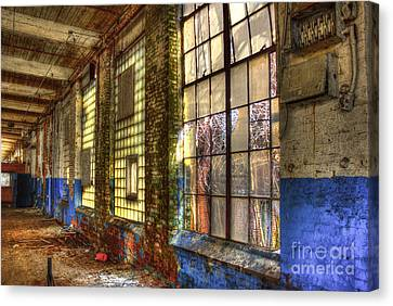 The Forgotten Wall Mary Leila Cotton Mill  Canvas Print by Reid Callaway