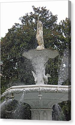 The Forsyth Fountain Canvas Print by Suzanne Gaff