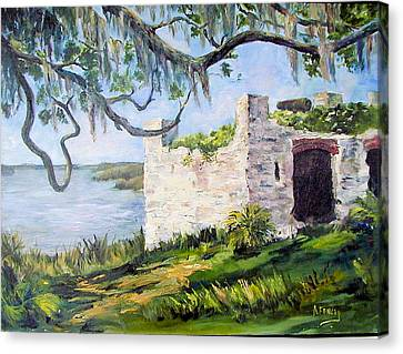 The Fort At Frederica Canvas Print by Albert Fendig