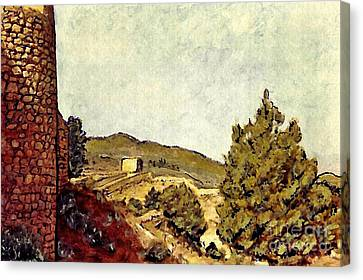 The Fort In Lorca Canvas Print by Sarah Loft