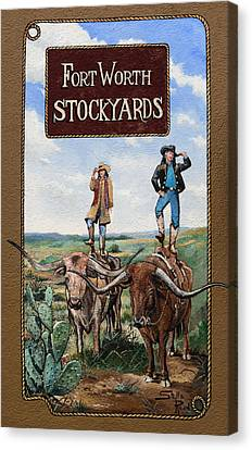 The Fort Worth Stockyards  Canvas Print by Mountain Dreams
