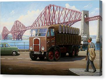The Forth Bridge Canvas Print by Mike  Jeffries