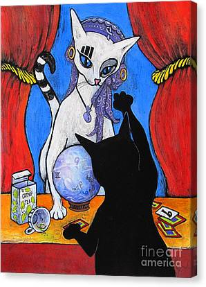 Gypsy Canvas Print - The Fortune Teller by Pamela Iris Harden