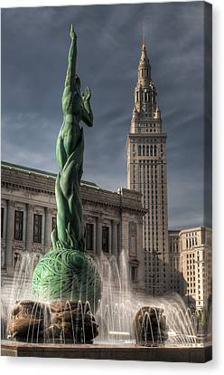 The Fountain Of Eternal Life Canvas Print by At Lands End Photography