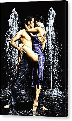 The Fountain Of Tango Canvas Print by Richard Young