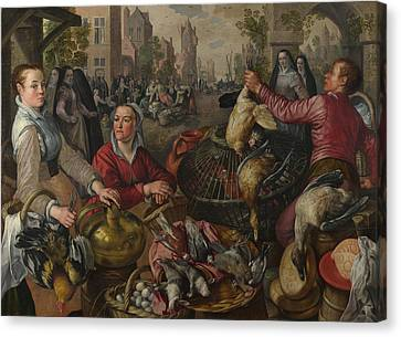 The Four Elements  Canvas Print by Joachim Beuckelaer