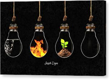 Medicine Canvas Print - The Four Elements by Leonardo Digenio