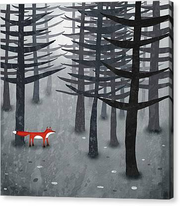 The Fox And The Forest Canvas Print by Nic Squirrell