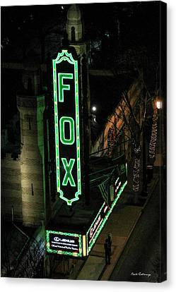 The Fox Theater Too Historic Atlanta Theater Art Canvas Print by Reid Callaway