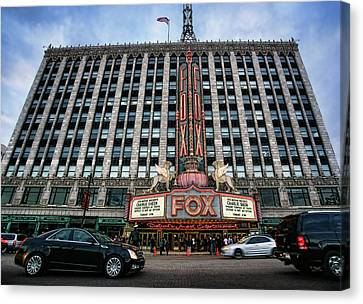 The Fox Theatre In Detroit Welcomes Charlie Sheen Canvas Print by Gordon Dean II