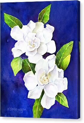 White Gardenia Canvas Print - The Fragrant Gardenia by Arline Wagner