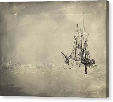 The Frams Hull Was Built To Stand Canvas Print by Fridtjof Nansen