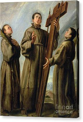 The Franciscan Martyrs In Japan Canvas Print by Don Juan Carreno de Miranda