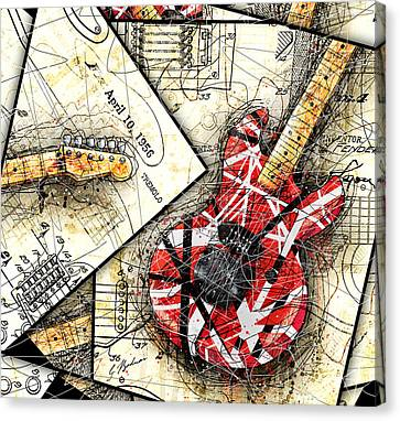 Van Halen Canvas Print - The Frankenstrat by Gary Bodnar