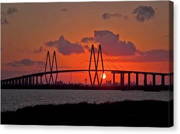 Island Stays Canvas Print - The Fred Hartman Bridge by Linda Unger