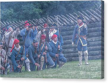 The French Attack On Fort Ligoner 1759 Canvas Print by Randy Steele