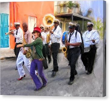 The French Quarter Shuffle Canvas Print