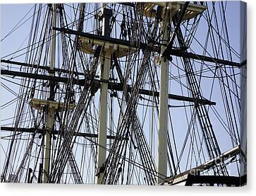 The Friendship Of Salem Tall Ship  In Salem Massachusetts Usa Canvas Print by Erin Paul Donovan