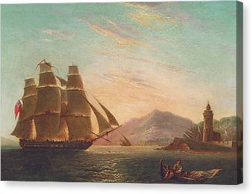 The Frigate Hms Pearl Canvas Print by English School