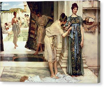 1890 Canvas Print - The Frigidarium by Sir Lawrence Alma-Tadema