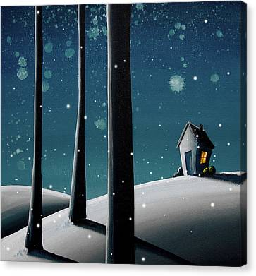 Night Canvas Print - The Frost by Cindy Thornton