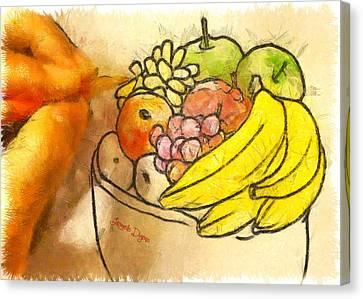 The Fruit Maker - Da Canvas Print