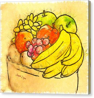 The Fruit Pot - Da Canvas Print by Leonardo Digenio
