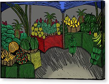 Plantation Canvas Print - The Fruit Stand by Marlon Vassell